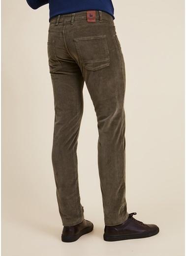 Bisse PNS20K20205 Regular Fit 5 Cep Kadife Pantolon Yeşil